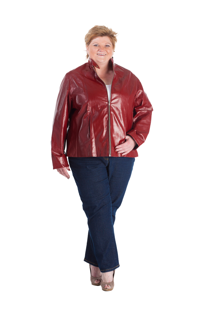 Lederimitatjacke Bordeaux